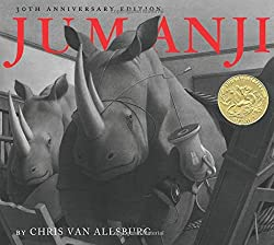 A screenshot of the cover of the book Jumanji
