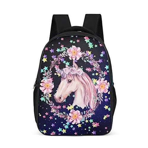 XJJ8 meisjes slingers eenhoorns rugzak schattige waterdichte boek tassen - Cartoon gedrukt glitter college tassen outdoor gebruik voor jongens onesize Grijs