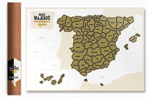 Mapa rascable España (Blanco)