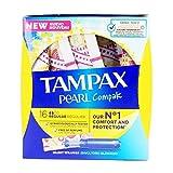 Tampax Compak Pearl Regular con Aplicador, el Mejor Tampón Tampax En Comodidad, Protección y Discreción, 16 Unidades