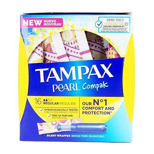 TAMPAX PEARL COMPAK tampón regular 16 uds
