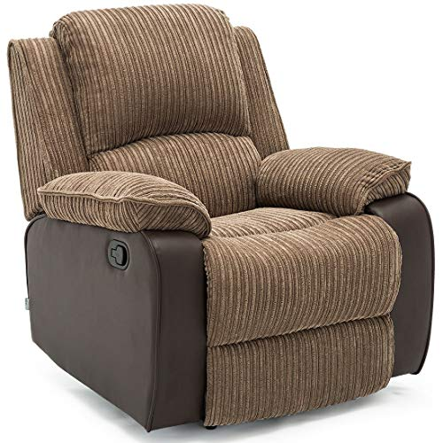 Dongbin Liegesessel Sofa Home Lounge Stuhl Liegespiel Jumbo Cord Stoff Liegesessel (Braun)