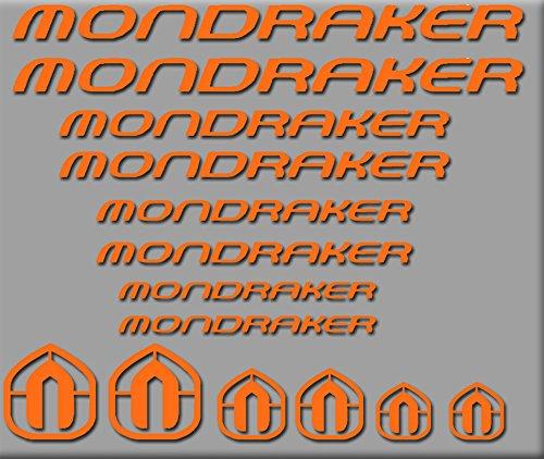 Ecoshirt 13-WRHC-I218 Sticker Mondraker Bici R180 Stickers Aufkleber Decals Autocollants Adesivi, Orange