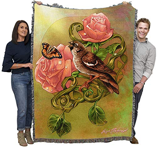 Sparrow Song - Celtic - Rene Biertempfel - Cotton Woven Blanket Throw - Made in The USA (72x54)