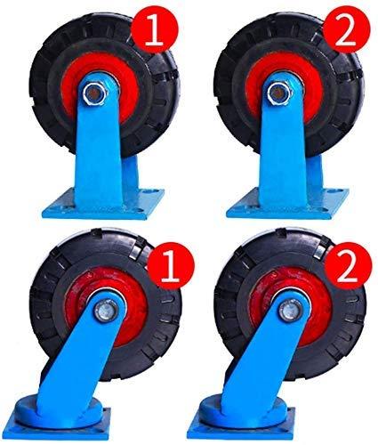 IMWANN ZXG 4 Castor Wheels Heavy Duty Castors Swivel Wheel Rubber Casters For Furniture Table Trolley Bed Workbench, 8 Inch Casters (blue)
