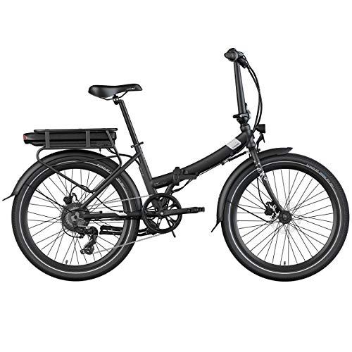 Legend Siena Bicicleta Eléctrica Plegable Urbana Smart eBike Ruedas de 24 Pulgadas, Frenos de Disco Hidráulicos, Batería Ion 36V