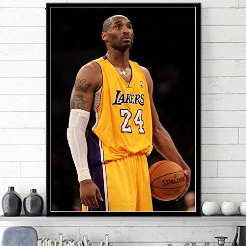 Basketball Star Poster Moderne minimalistische Wohnzimmer Dekoration Malerei Wandkunst Leinwand,Rahmenlose Malerei,30X45cm