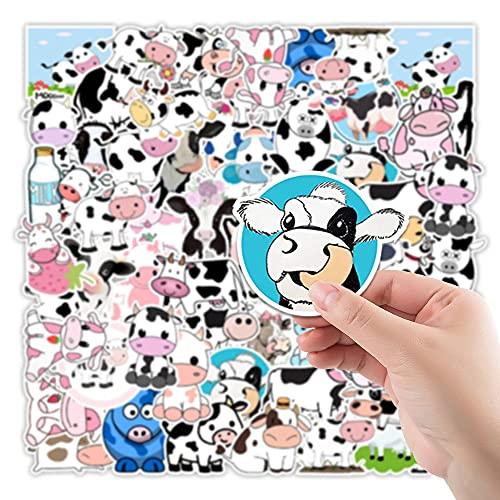 LSPLSP Etiqueta engomada Linda de la Historieta de los Animales de la Vaca de la Fresa para el monopatín del Ordenador portátil calcomanías del refrigerador del Equipaje Pegatinas de Graffiti 50 Uds