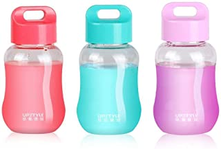Kids Water Bottle with Straw Mini Drinking Bottle Cups Baby Juice Cup