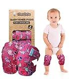 Simply Kids pads rodilla del bebé para el rastreo (2 pares)   protector para el niño, niño, niña, niño (unicornio)