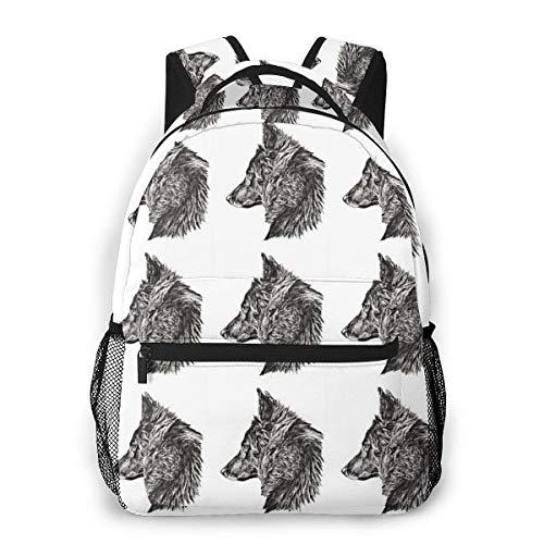 Belgian Shepherd Dog Groenendael Causal Daypack Rucksack Vintage College School Bags Multipurpose Laptop Backpack for School/Business/Work/Men/Women