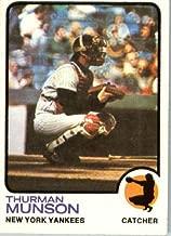 1973 Topps Baseball Card #142 Thurman Munson