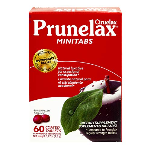 Prunelax Ciruelax Natural Laxative Regular Mini Tablets, 60 Ea