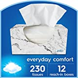 Scotties Everyday Comfort Facial Tissues, 230 Tissues per Box (Pack of 12)