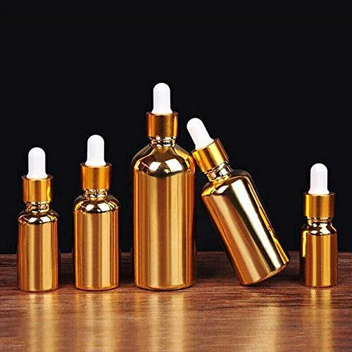 TOSISZ Frasco Gotero Vacío para Perfumes, Aceites Esenciales, Desodorante Líquido, Envases De Maquillaje, Revestimiento De Color Dorado Recargable, 50 Ml