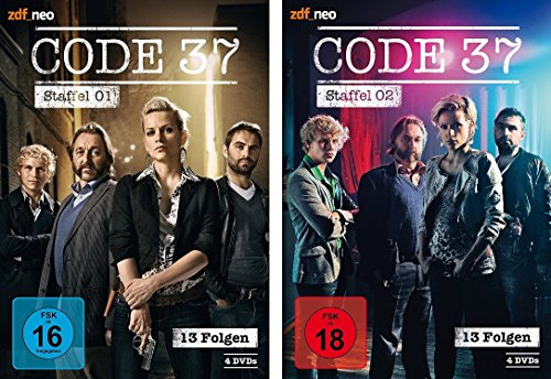 Code 37 - Staffel 1+2 im Set (FSK 18) - Deutsche Originalware [8 DVDs]