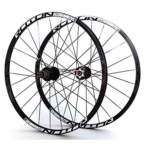 Cerchio bici Bicycle Wheelset 26'/27.5' / 29'MTB Doppia Parete a cerchio Hub Carbon Hub Sigillato Cuscinetto Bike Bike Ruote Disc Freno a disco QR 11 Velocità 24h per assi a sgancio rapid