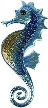 ديكور جداري فني بطابع المحيط على شكل منحوتة فرس البحر مصنوع من المعدن والزجاج للتعليق في غرفة المعيشة والحمام والمسبح من ليفي
