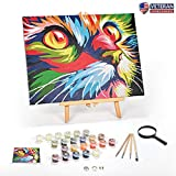 Ledgebay DIY Paint by Numbers for Adults Kit: Beginner to Advanced Number Painting Set | Fun Adult Arts and...