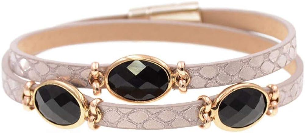 Women Bracelets sale Trendy Leather Bracelet Bra Crystal Inventory cleanup selling sale Charm Inlaid