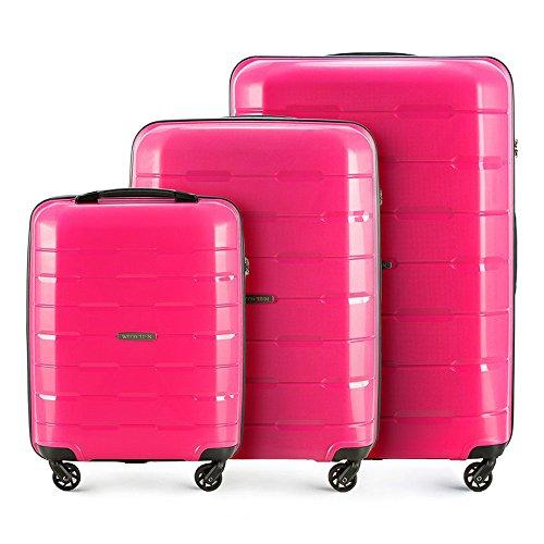 WITTCHEN Reisekoffer Set Polypropylen Hartschalen-Koffer 101 L und 61 L, 1 Kabinentrolley 29 L I 3 Trolleys