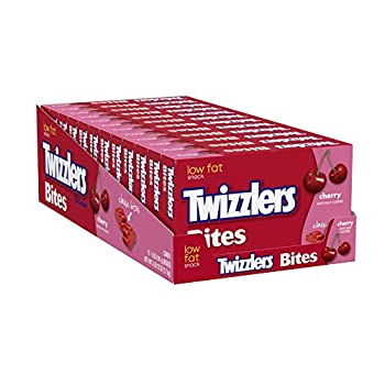 TWIZZLERS Licorice Candy Cherry Bites  Pack of 12