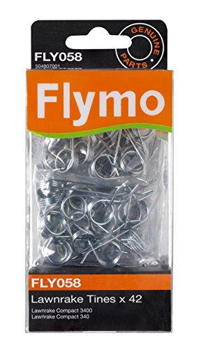 Flymo FLY058 - Juego de púas metálicas para rastrillos Compact 340/3400