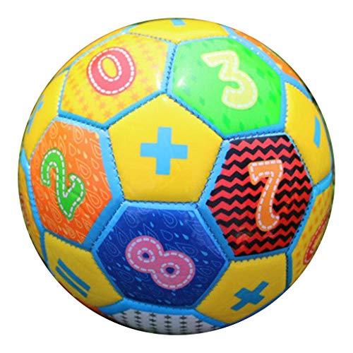 freneci Balón de fútbol Tradicional, Pelotas de Entrenamiento de fútbol de tamaño 2 para niños, niños, Adolescentes, Adultos para Practicar Juegos de - Amarillo