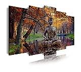 DekoArte 17 - Cuadros Modernos Impresión de Imagen Artística Digitalizada | Lienzo...