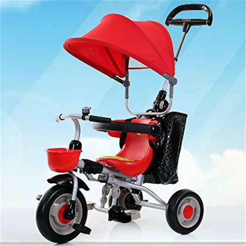 WDXIN Cochecito de Bebe Plegable Triciclo Plegable Ligero y Conveniente Diseño ergonomico Edad aplicable 6-12 Meses, 1-3 años,B