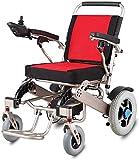 Silla plegable de gran alcance bimotor de lujo silla de ruedas eléctrica para ayuda a la movilidad en silla de ruedas portátil compacto - pesa sólo 59 libras con la batería - Soporta 300