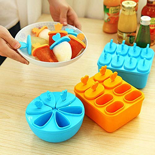 QWEAS 3 Ensemble Cellule Ice Pop Mold Maker, CE Lolly Moisissures Plateau Bricolage Cuisine Réutilisable Frozen Ice Cream Moule