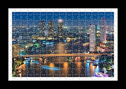 Puzzle Style (preensamblado) Impresión de la pared de Bangkok by