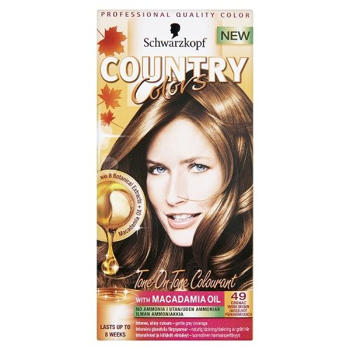Schwarzkopf COUNTRY COLOR 49 Cognac - Warm Brown, 150 ml