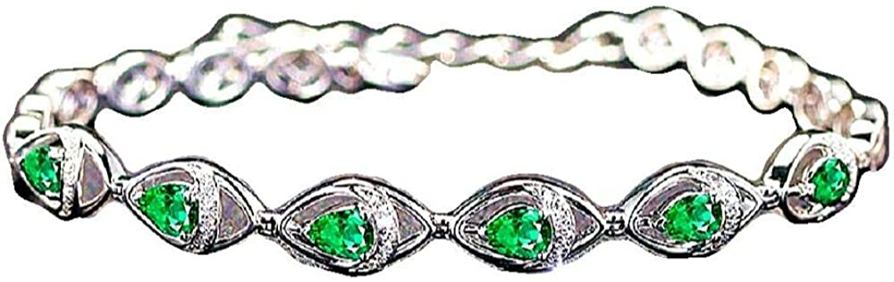 Glitziest Tennis Superior Bracelet Max 47% OFF Cushion Halo Wa Zirconia Dancing Cubic
