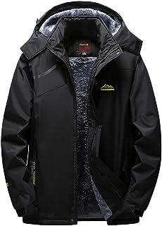 iLXHD Mens Outdoor Cashmere Thickening Hoodie Zipper Assault Coat