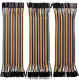 Movilideas - Conectores Puente Dupont, 40 Cables Macho a Macho, 40 Cables Hem...