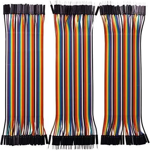 Movilideas - Conectores Puente Dupont, 40 Cables Macho a Macho, 40 Cables Hembra a Hembra, 40 Cables Macho a Hembra, 120 Cables