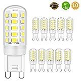 Lampadina LED G9 da 3W, equivalente a lampadine alogene da 28W, 30W, 40W, luce bianca fredda da 6000K, attacco G9, no sfarfallii, non dimmerabile, 400lm, CA 220-240V, confezione da 10
