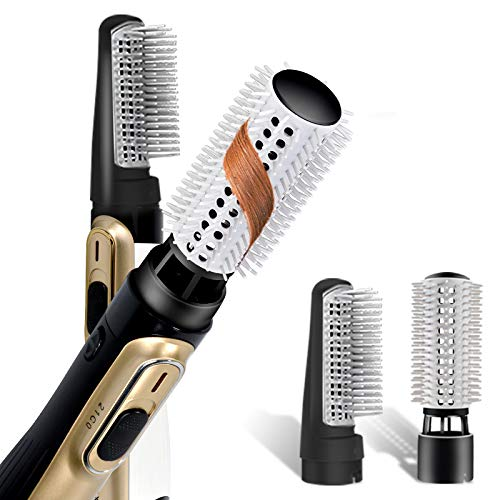 Marcopele 4 in 1 One Step Hair Dryer Brush& Volumizer Set with 2 Comb Attachments for Straightening, Curling, Anti-Scald Hot Air Brush Hair Tools for...