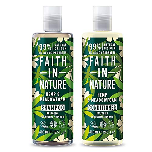 Faith in Nature Hennep shampoo en conditioner, 400 ml