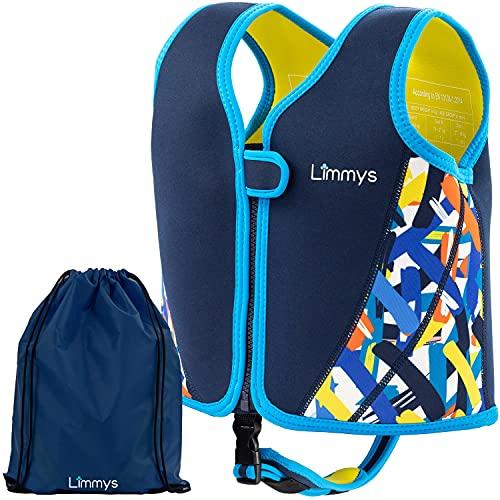 Limmys Premium Neopren Schwimmweste, ideale Schwimmhilfe für Jungen, Extra Kordelzugtasche inklusive (Medium)