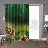 YUAZHOQI cortinas correderas de cristal para puerta, setas, salvaje Magic Wonderland, W52 x L84 pulgadas, protección de privacidad para sala de estar (1 panel)