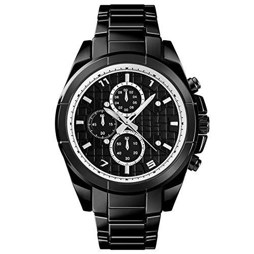 Reloj inteligente con Bluetooth, monitoreo del sueño y de la salud y el estado físico, SOS para ayuda, seguimiento de movimiento, rastreador de fitness, para hombre, color negro