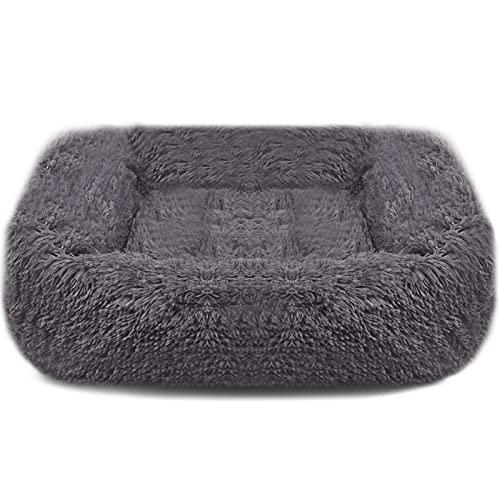 BEIKOTT Dog Bed, Original Shag Fur Cat Dog Bed, Ergonomic Calming Plush Pet Bed, Anti-Slip Kennel for Teddy Alaska Kitten Bunny (Medium 26' 22' 8')