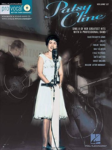 Pro Vocal For Women Singers Volume 22 Patsy Cline + Cd