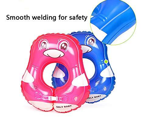 Baby-aufblasbarer Schwimmen-Schwimmen-Sitz-Schwimmen-Ring, justierbarer Schwimmenring des Kindes, passen 3 Monate-3 Jahre,bluepenguin