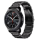 DD Cinturino Compatibile con Galaxy Watch 46mm / Galaxy Watch 3 45mm / Samsung Gear S3 Frontier/Classic Smartwatch/Huawei Watch GT, 22mm Acciaio Inox Ricambio Orologio Banda (Nero)