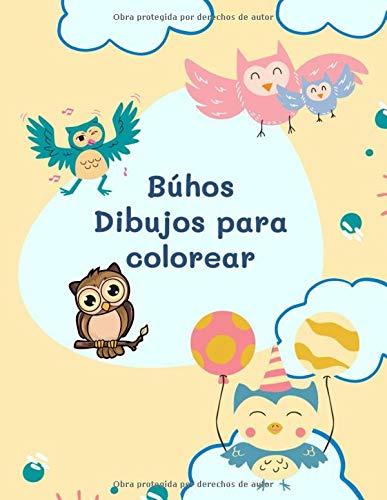 Búhos Dibujos para colorear: Búhos colorear para niños