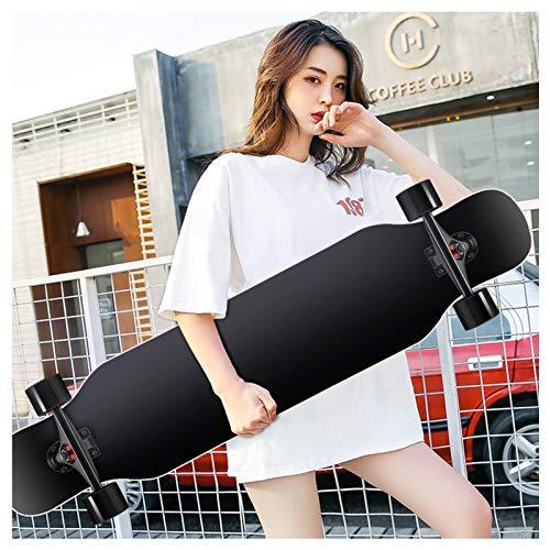NENGGE Longboard 43,3 Pollici PRO Skateboard, Cruiser Trick Skateboard, Completo Legno di Acero Canadese, Longboard Downhill Freeride per Principianti Adulti Adolescenti Ragazze e Ragazzi,F